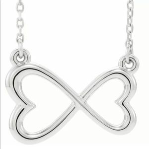 Jewelry - Double Heart Infinity Silver Necklace